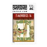 Vintage Circus Poster, Giraffe Birthday Party Stamp