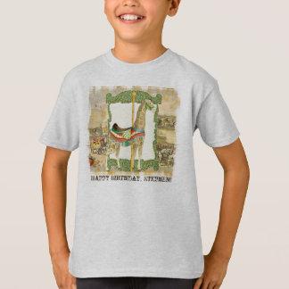 Vintage Circus Poster, Giraffe Boy Birthday Party T-Shirt