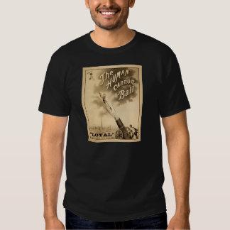 Vintage Circus Poster Human Cannon Ball circa 1879 Shirt