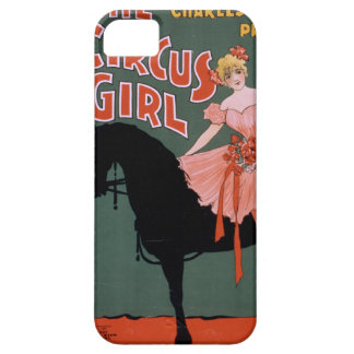 Vintage Circus Poster of Female Acrobat on a Horse iPhone 5 Covers