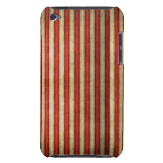 Vintage circus red grunge stripes stripe pattern iPod touch cases