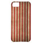 Vintage circus red grunge stripes stripe pattern iPhone 5C cases