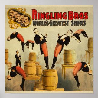 Vintage Circus Sideshow Poster