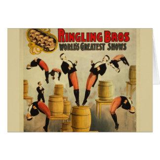 Vintage Circus Sideshow Poster Card