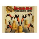 Vintage Circus Sideshow Poster Postcard