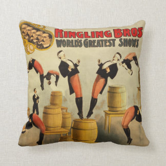 Vintage Circus Sideshow Poster Throw Pillow