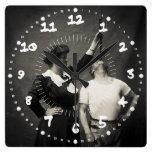 Vintage Circus Sideshow Sword Swallower Freak Wall Clocks