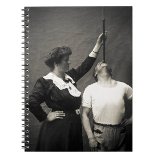 Vintage Circus Sideshow Sword Swallower Freak Note Book