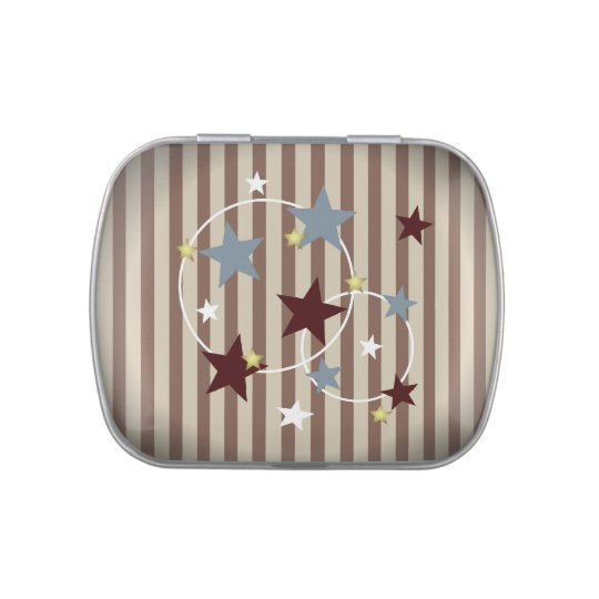 Vintage Circus Stars and Stripes Candy Tins