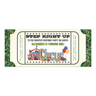 Vintage Circus Ticket Birthday Card