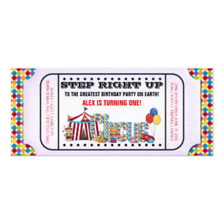 Vintage Circus Ticket Birthday Party Card