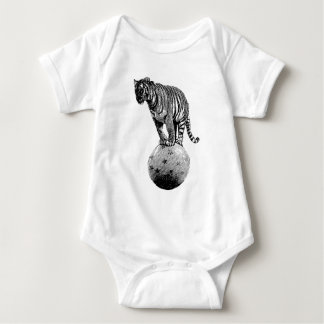 Vintage Circus Tiger Gifts Baby Bodysuit