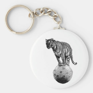 Vintage Circus Tiger Gifts Keychain