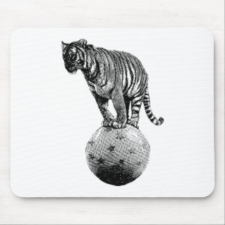 Vintage Circus Tiger Gifts Mouse Pad
