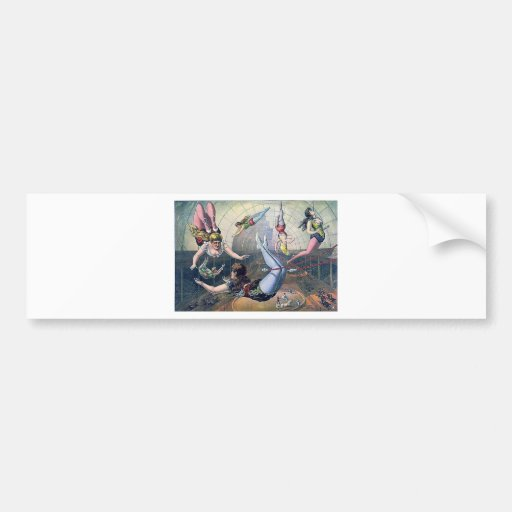 Vintage CIRCUS trapeze horses arena Bumper Stickers