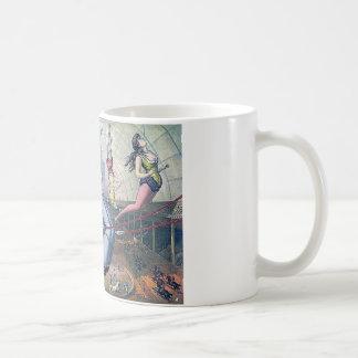 Vintage CIRCUS trapeze horses arena Coffee Mug