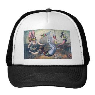 Vintage CIRCUS trapeze horses arena Trucker Hat