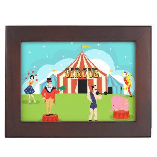 Vintage Circus Wooden Keepsake Box