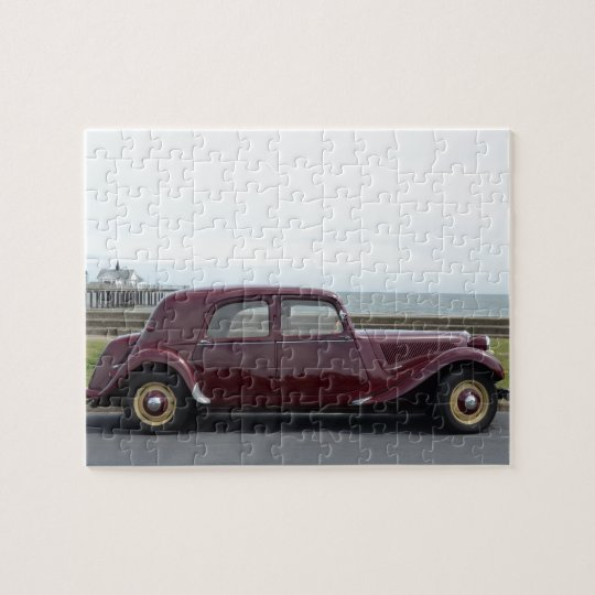 vintage citroen traction avant jigsaw puzzle. Black Bedroom Furniture Sets. Home Design Ideas