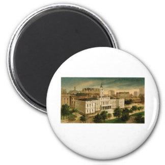 Vintage City Hall New York 2 Inch Round Magnet