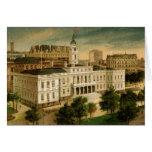 Vintage City Hall New York Greeting Card