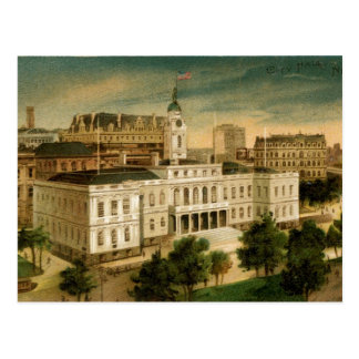 Vintage City Hall New York Postcard