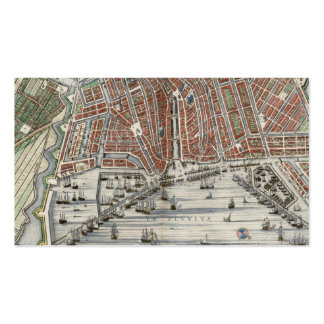 Vintage city map of Amsterdam bookmark Business Card Template
