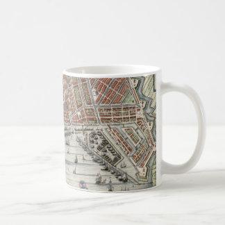 Vintage city map of Amsterdam Coffee Mug