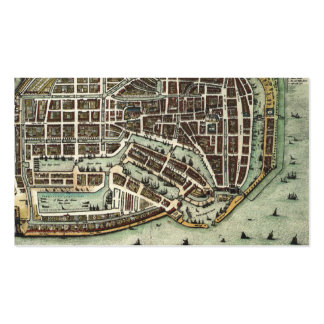 Vintage city map of Enkhuizen bookmark Business Cards