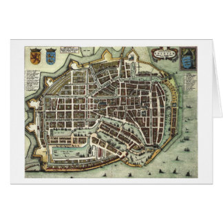 Vintage city map of Enkhuizen Card