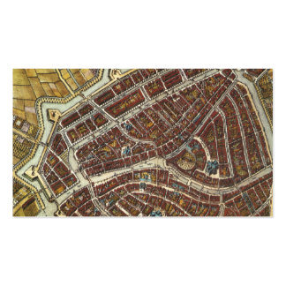 Vintage city map of Leiden bookmark Business Card