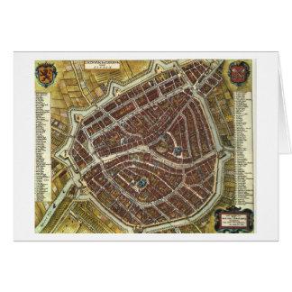 Vintage city map of Leiden Card