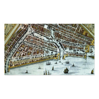 Vintage city map of Rotterdam bookmark Business Card Template