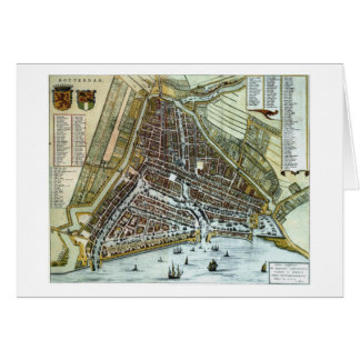 Vintage city map of Rotterdam Card