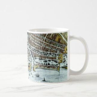 Vintage city map of Rotterdam Coffee Mug