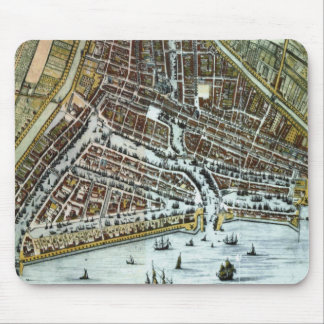 Vintage city map of Rotterdam Mouse Pad