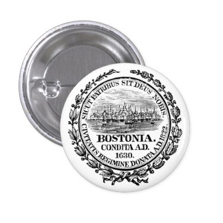 Vintage City of Boston Seal, black Buttons