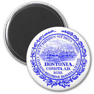 Vintage City of Boston Seal, cobalt blue 2 Inch Round Magnet