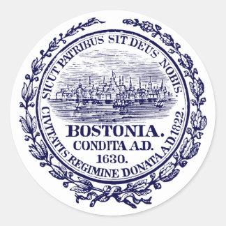 Vintage City of Boston Seal dark blue Sticker