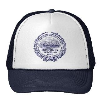 Vintage City of Boston Seal, dark blue Trucker Hat