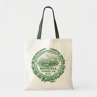 Vintage City of Boston Seal, green Tote Bag