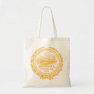 Vintage City of Boston Seal, orange Tote Bag