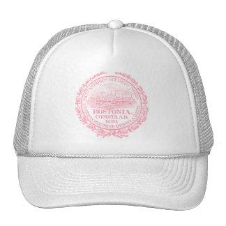 Vintage City of Boston Seal, pink Trucker Hat