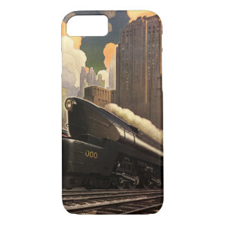 Vintage City, T1 Duplex Train on Railroad Tracks iPhone 8/7 Case