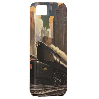 Vintage City, T1 Duplex Train on Railroad Tracks iPhone SE/5/5s Case