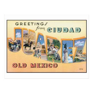 Vintage Ciudad Juarez Old Mexico Postcard