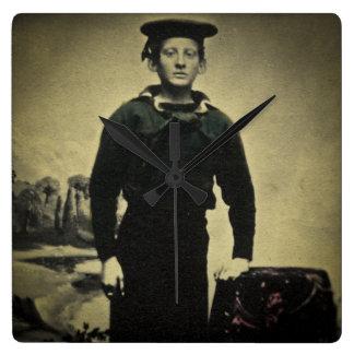 Vintage Civil War Sailor Daguerreotype Wallclock