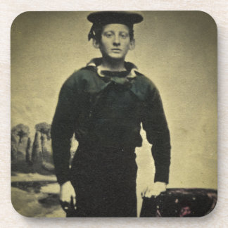 Vintage Civil War Sailor Daguerreotype Coaster