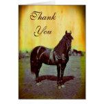 Vintage Civil War Union Horse Thank You Note Card