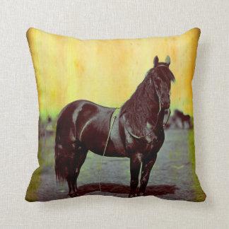 Vintage Civil War Union Horse Throw PIllow